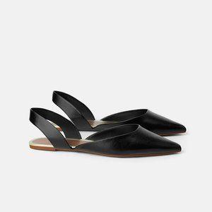 NWT Zara Size 5 Slingback Pointy Toe Flats